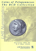 Picture of the cover of the catalogue: Alan S. Walker; 8-9 May 2006. Coins of Peloponnesos : The BCD Collection (Public auction 96). LHS Numismatics, Zürich, Switzerland.