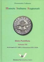 Picture of the cover of the catalogue: Alessandro Toffanin; 2020. Monete Italiane Regionali / Volume 14. Stato Pontificio 3 : Da Gregorio (1621) a Innocenzo XIII (1724). Edizioni Numismatica Varesi, Pavia, Italy.