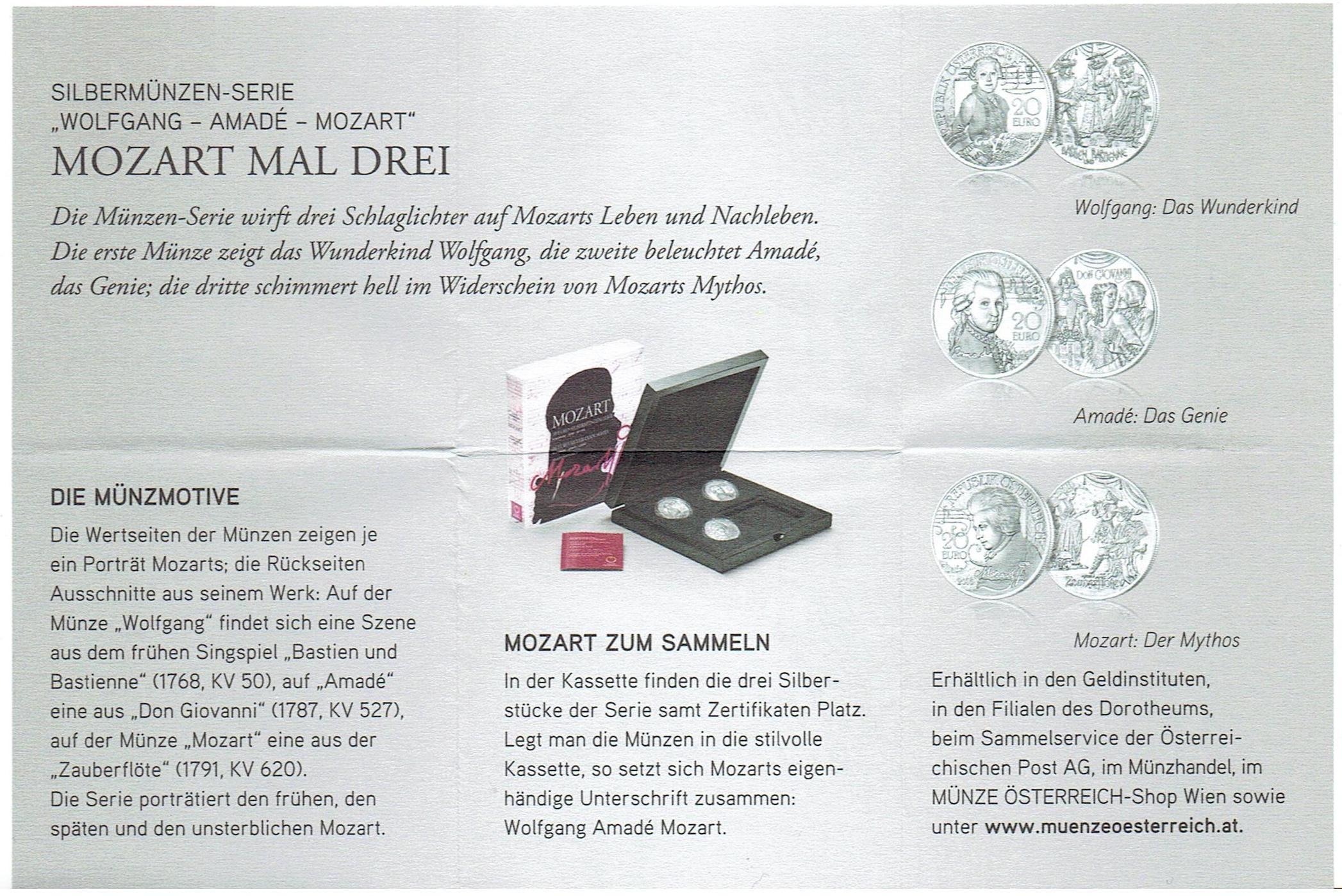 20 Euro Mozart Legend Austria – Numista