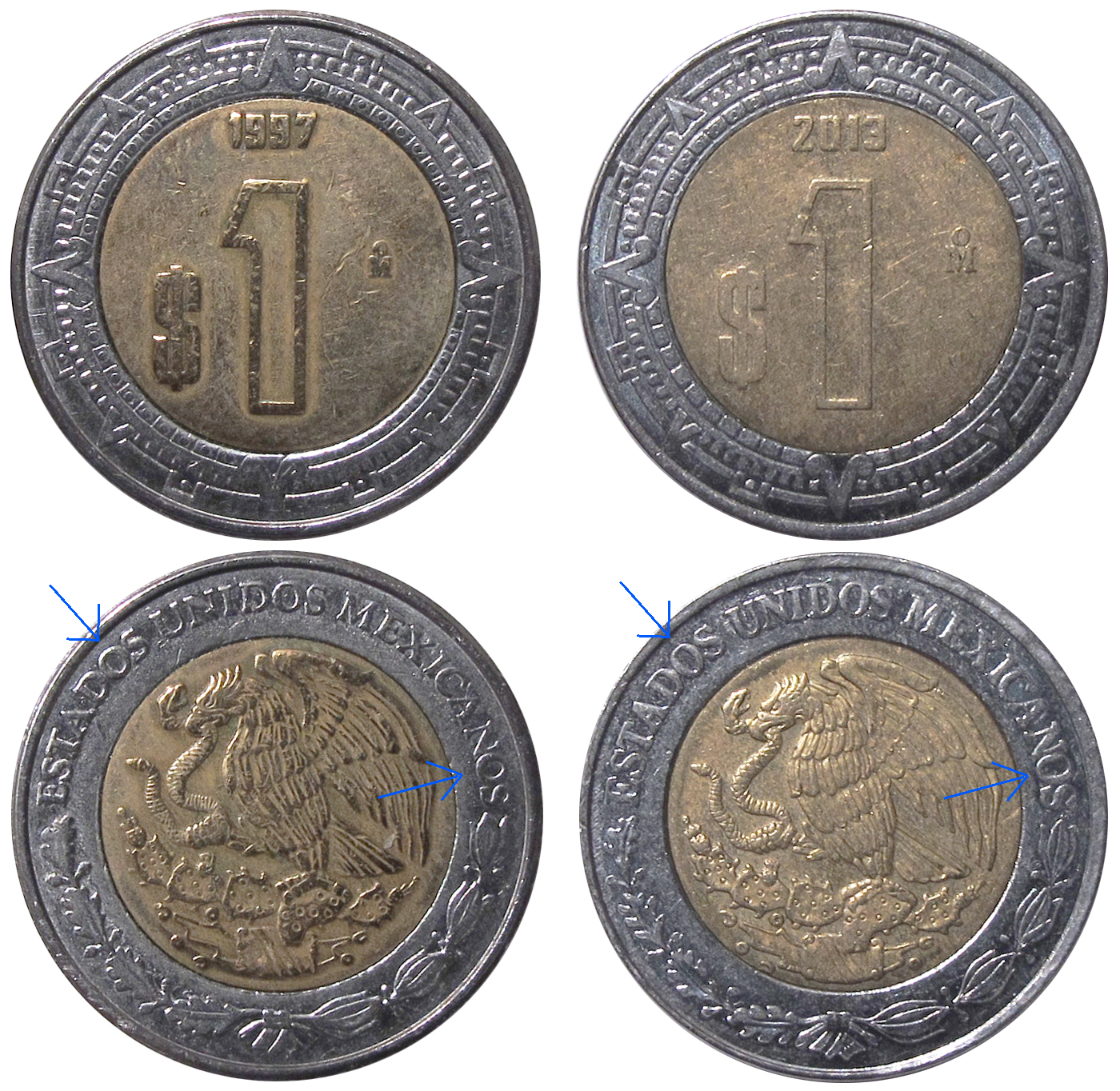 Varieties Exist Normal Vs Elongated Font On The Obverse
