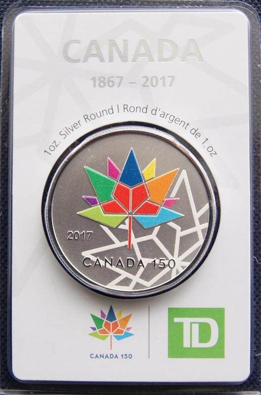 1 Oz Silver Td Bank Canada 150 Exonumia Numista