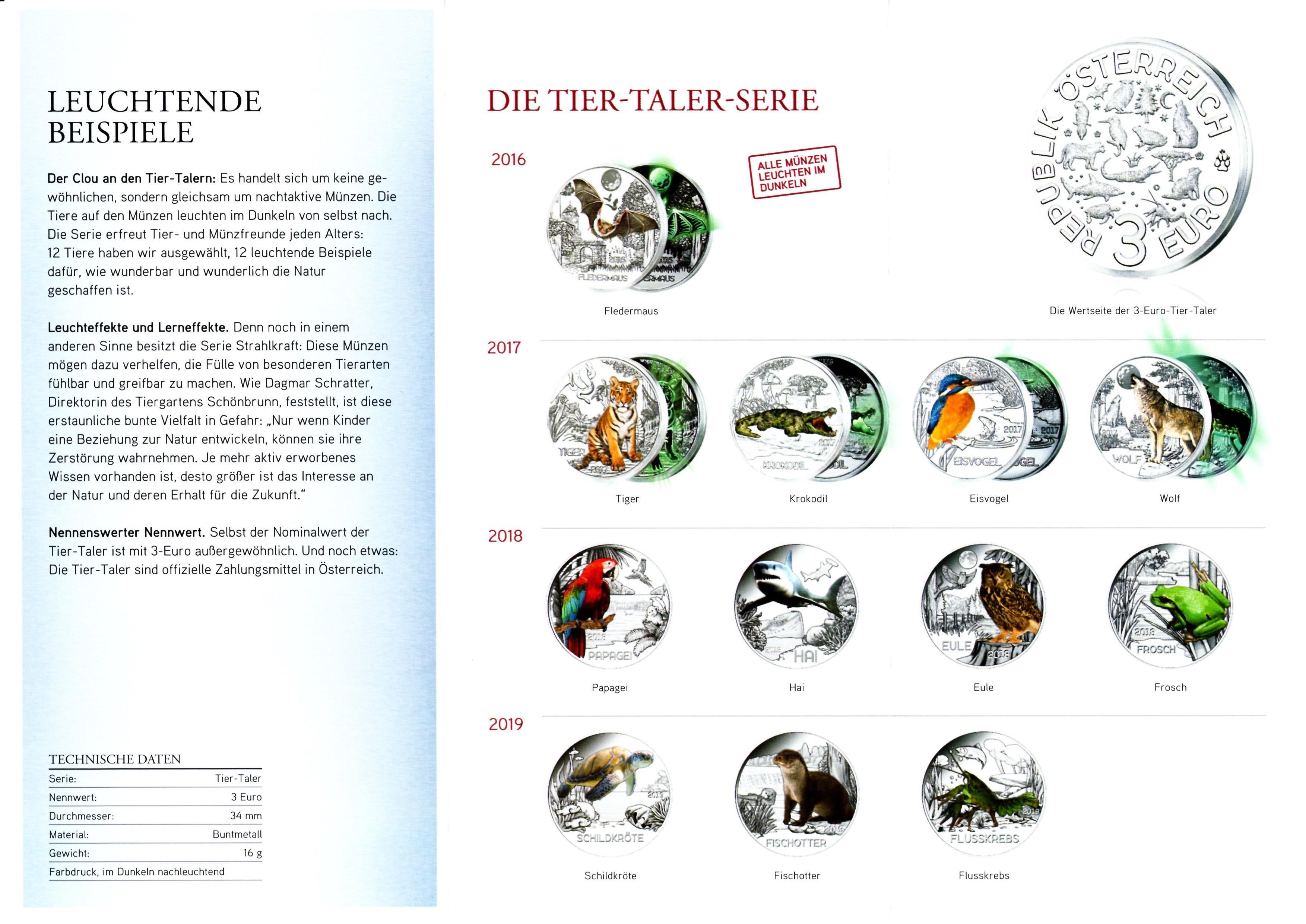 3 Euro The Wolf Austria Numista