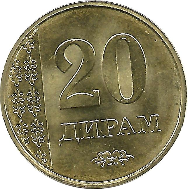 TAJIKISTAN TADJIKISTAN 4 COINS SET 5-10 20-50 DIRAM 2011-2015 UNC