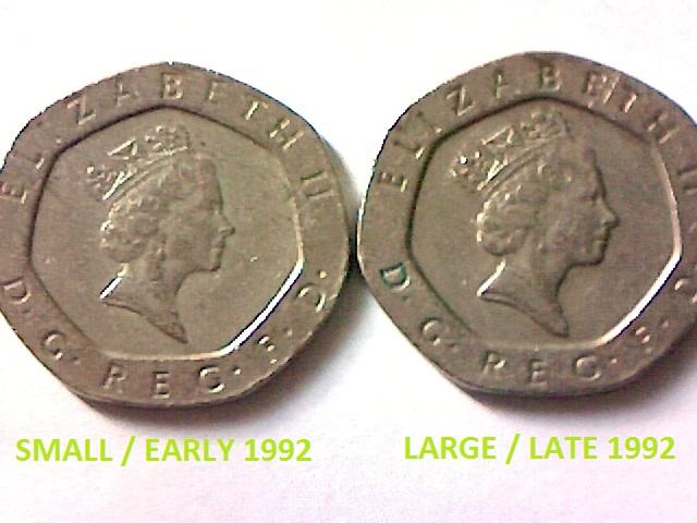 20 Pence Elizabeth Ii 3rd Portrait