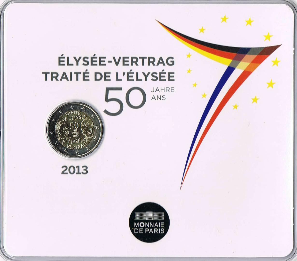 2 Euro élysée Treaty France Numista