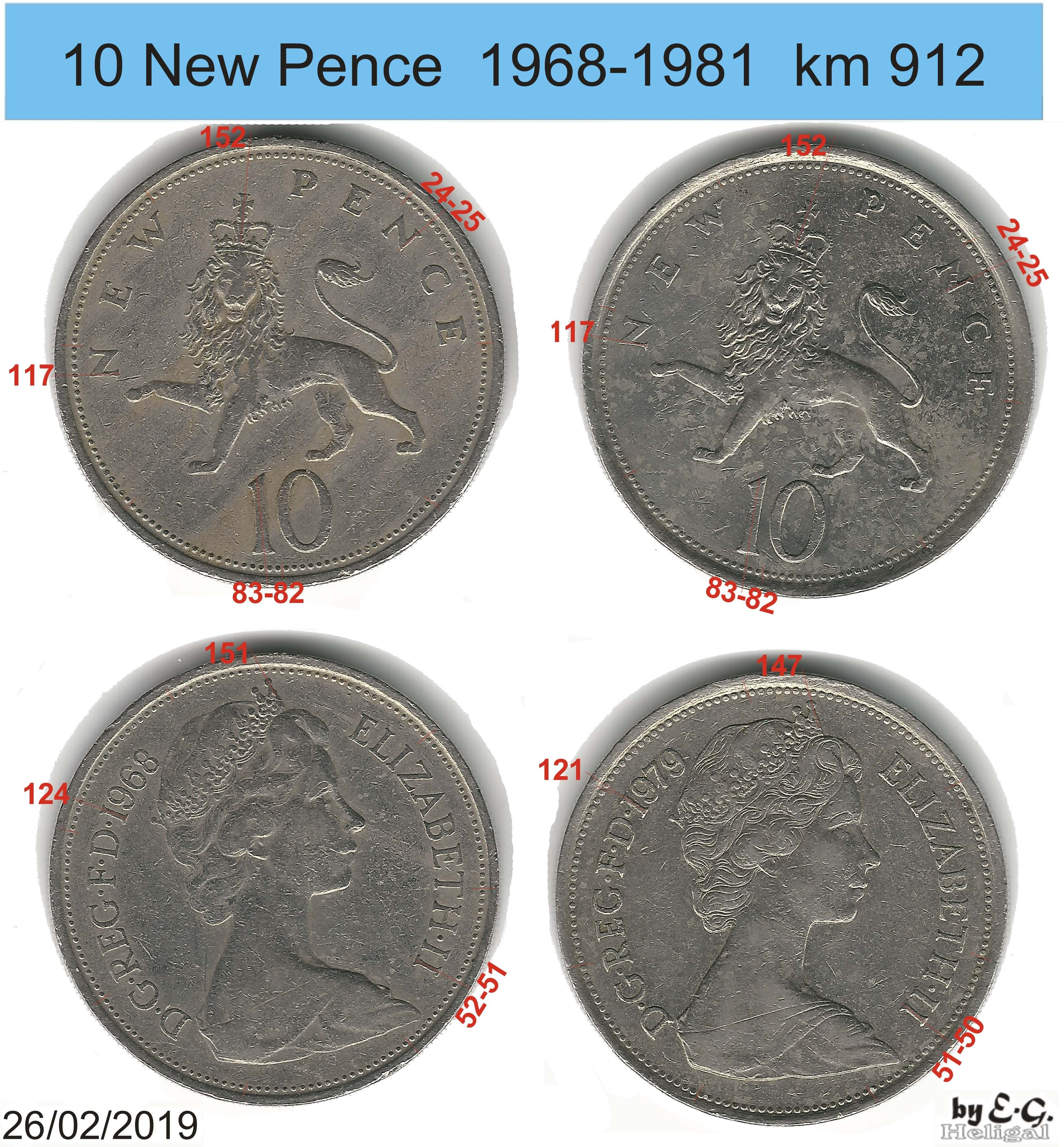 UK//GB 10 NEW PENCE VARIOUS DATES GREAT PRICE!