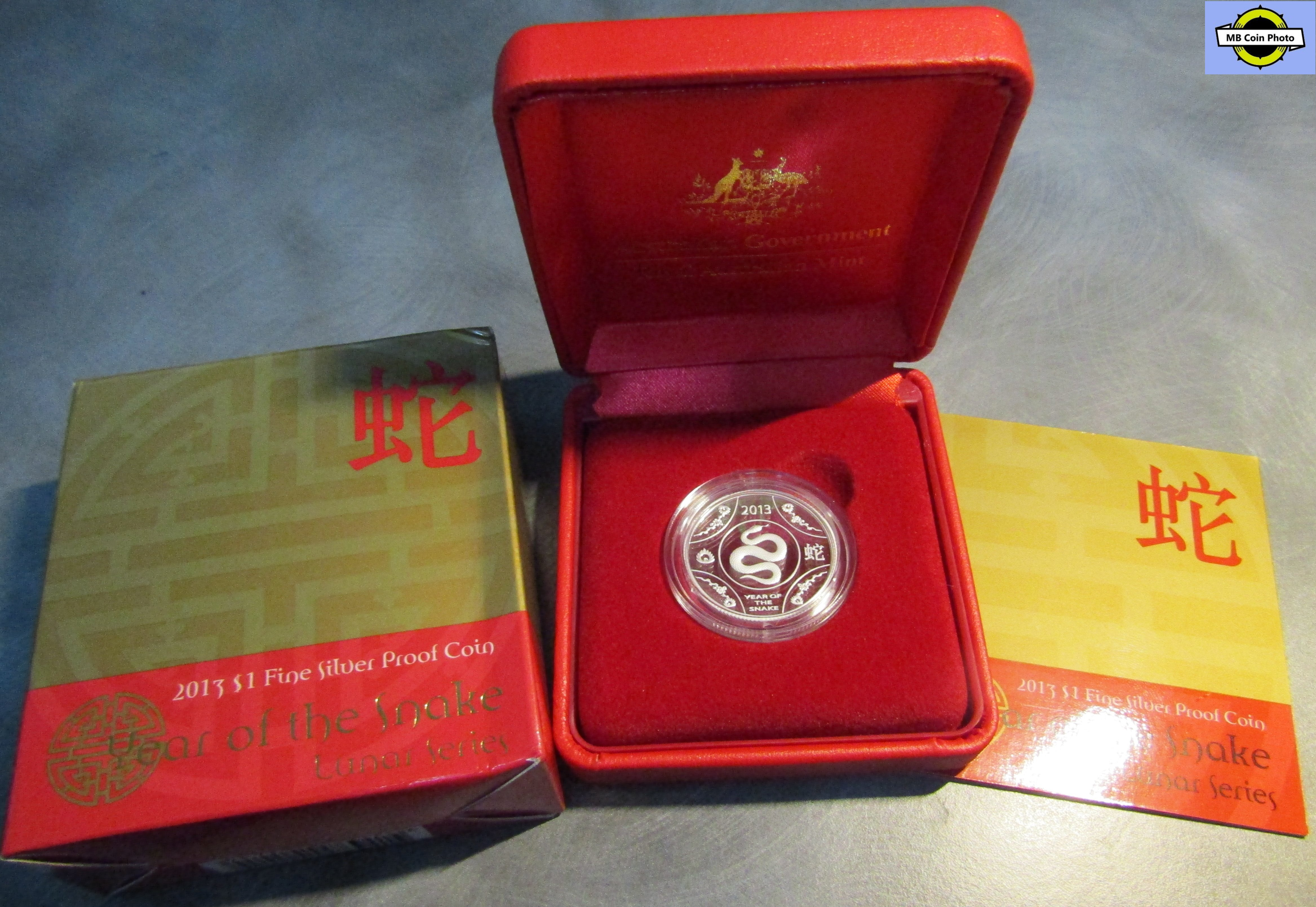 Lunar Year of the Snake PNC LAST ONE! 2013 Australia $1 UNC Coin
