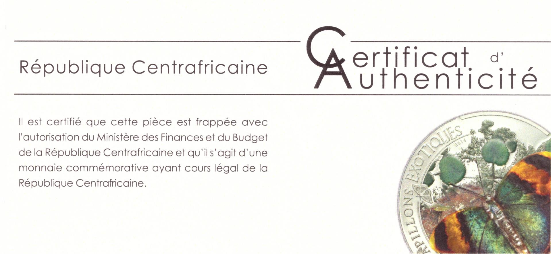 1000 Francs Cfa Erflies Of The