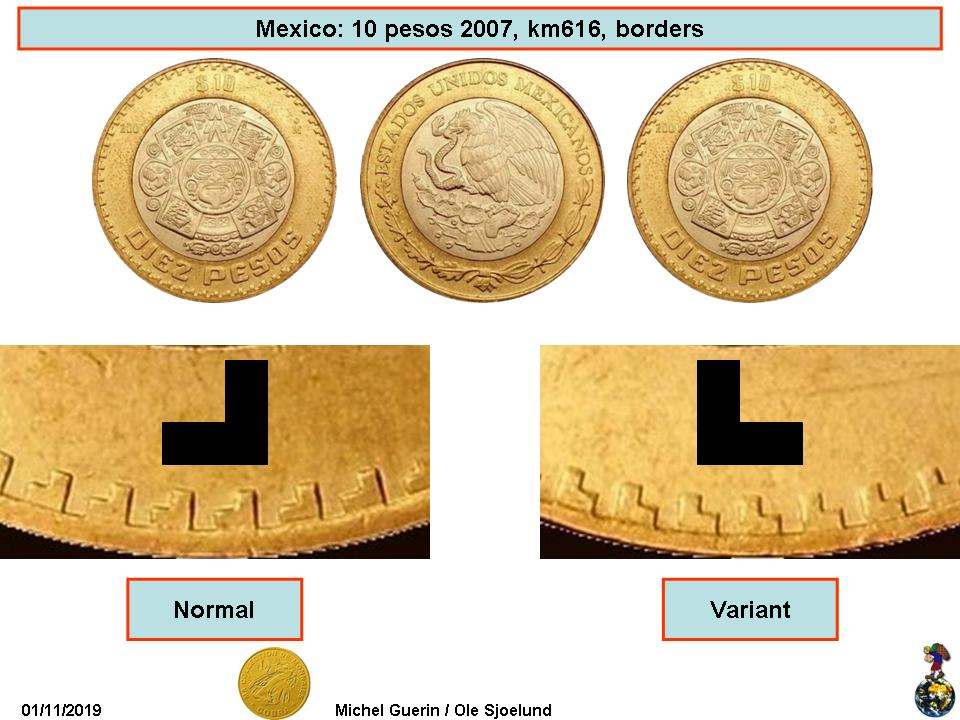 Lot 2 MEXICO BIMETALLIC SILVER COIN 10 Nuevos Pesos 2015-tonatiuh Calendar