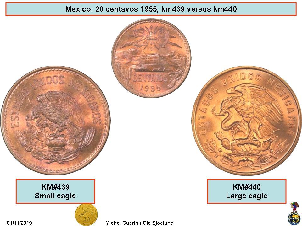 1963 Mexico 20 Centavos Uncirculated
