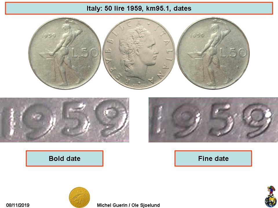 Italian 1954 ROME  1 /& 2  Lire Coin  FDC UNC Italy