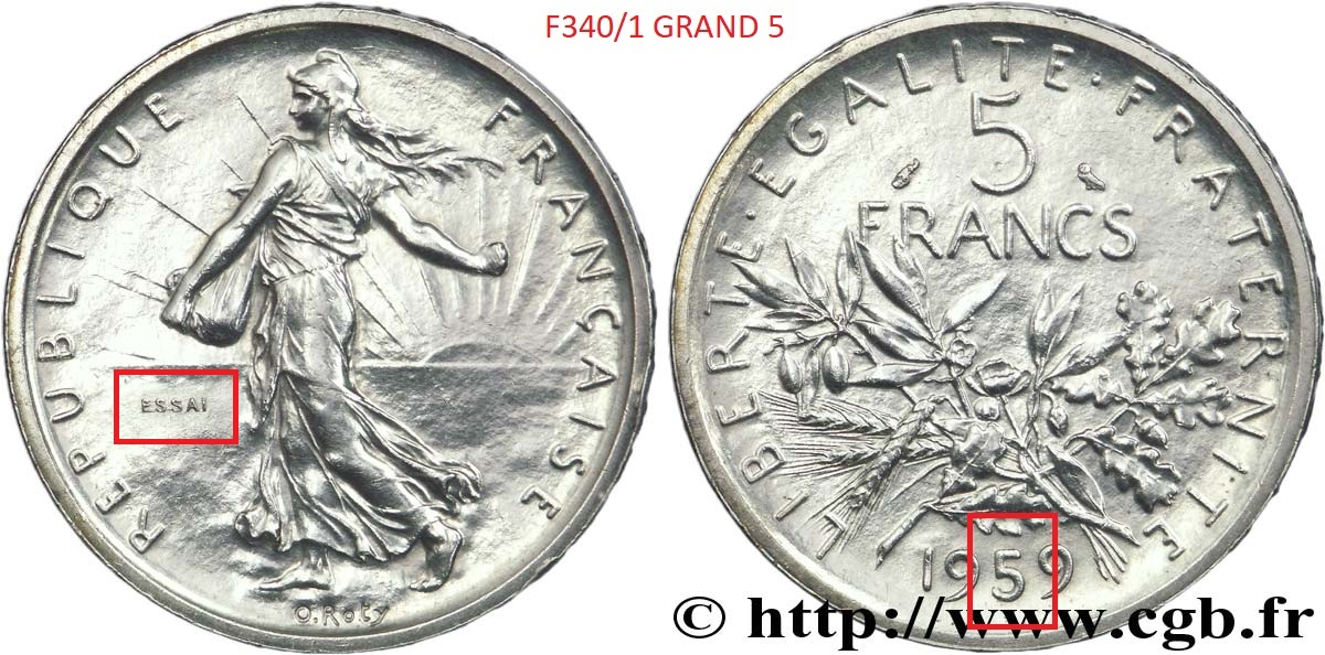 Circulated Silver! 1 Coin Only 1963 France 5 Francs 7 Available