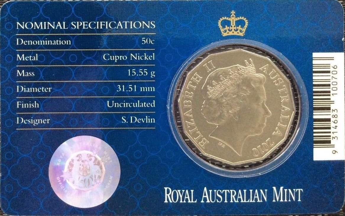 50 Cent Coin 2010 Royal Engagement William /& Catherine Middleton Australian 50c