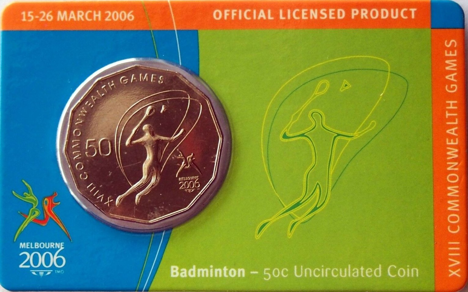 Cycling 2006 RAM 50 cent UNC Coin Melbourne Commonwealth Games