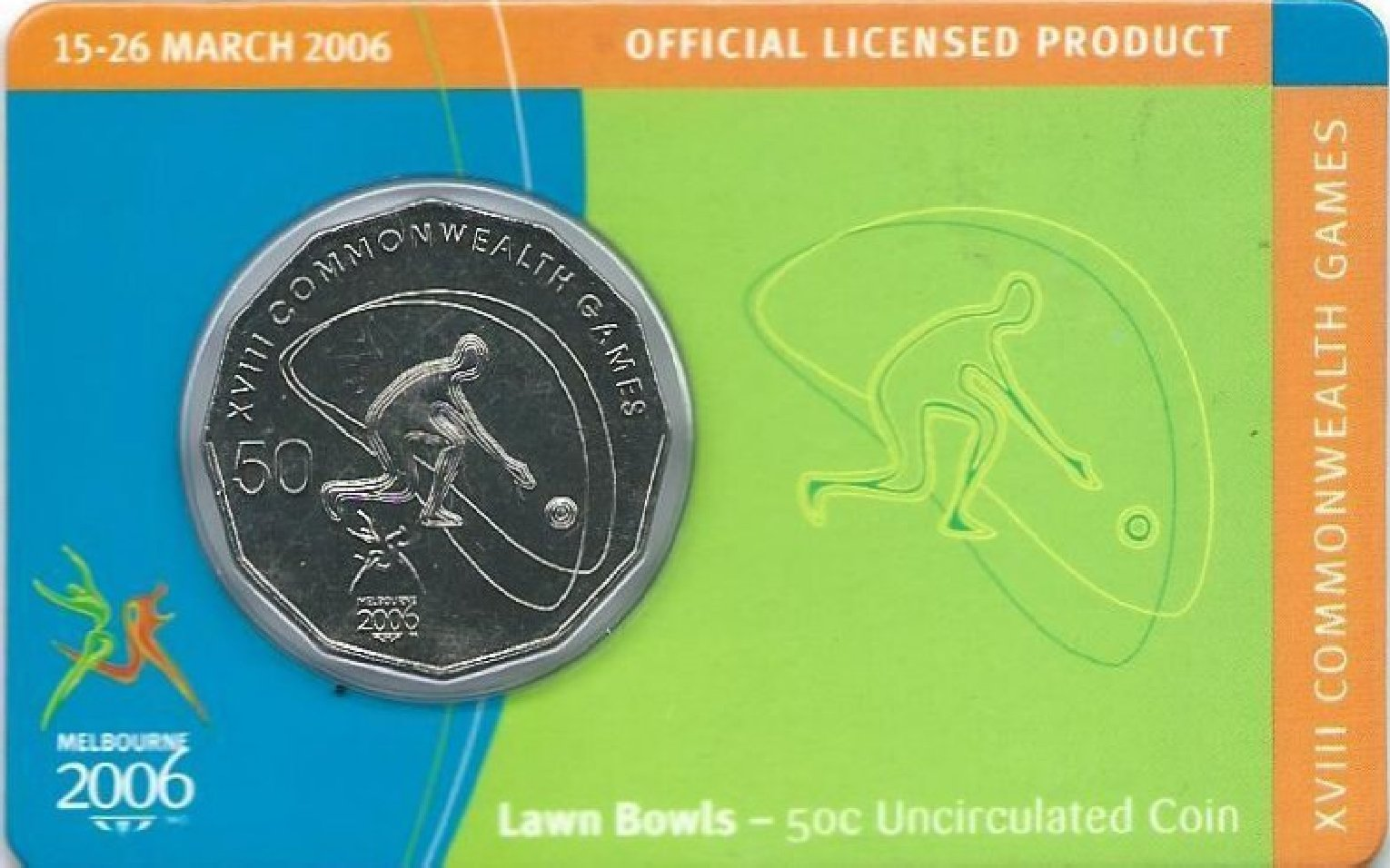 Boxing 2006 Melbourne XVIII Commonwealth Games 50c Uncirculated Coin