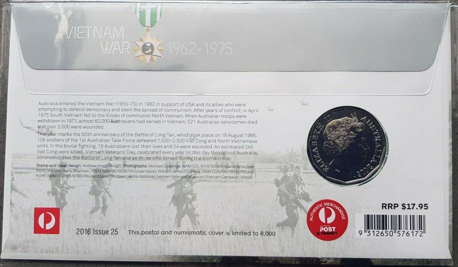 50c Coin Malayan Emergency 2016 Australia at War Series