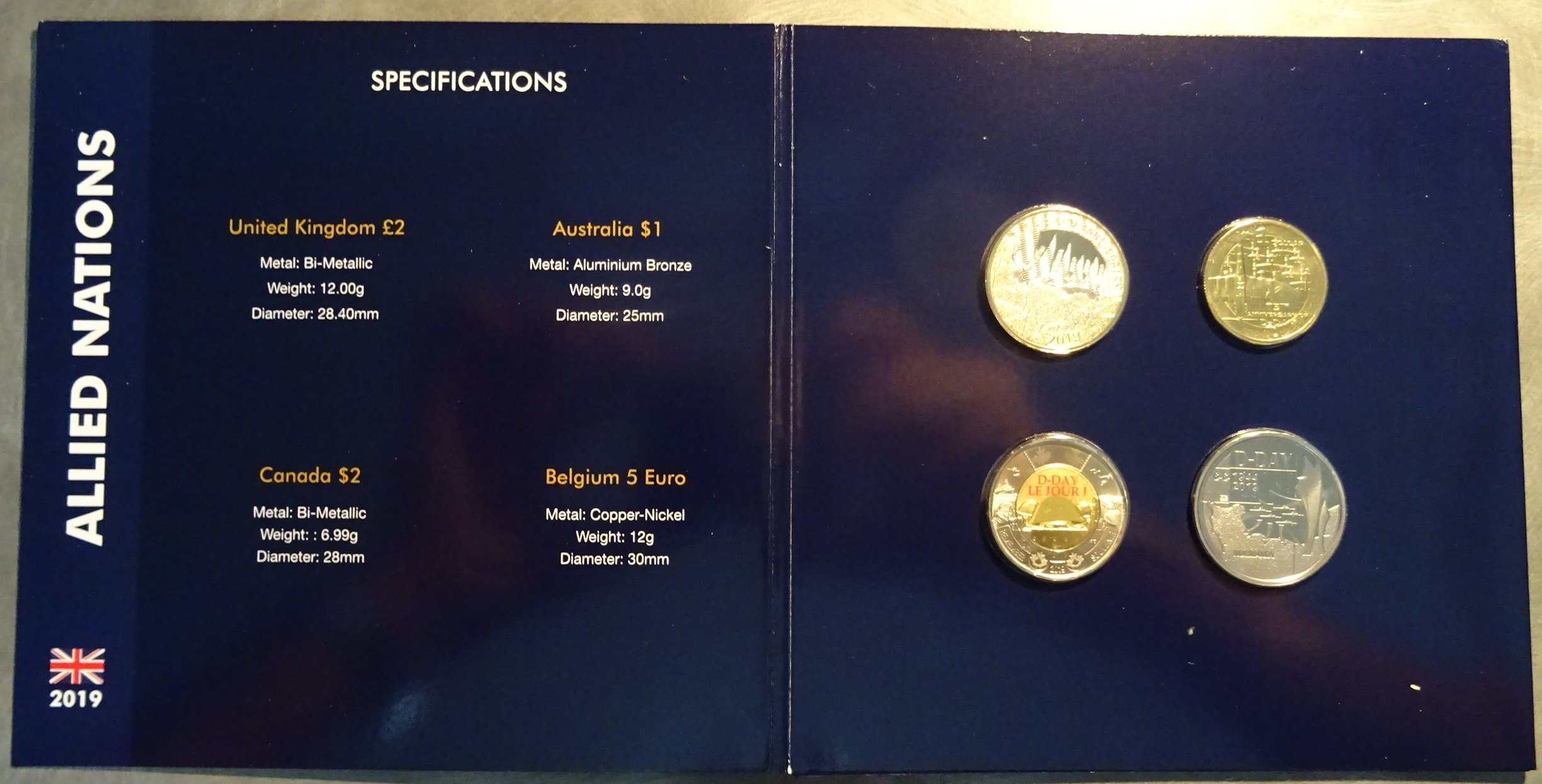 2019 75th Anniversary of D-Day Four Coin Set