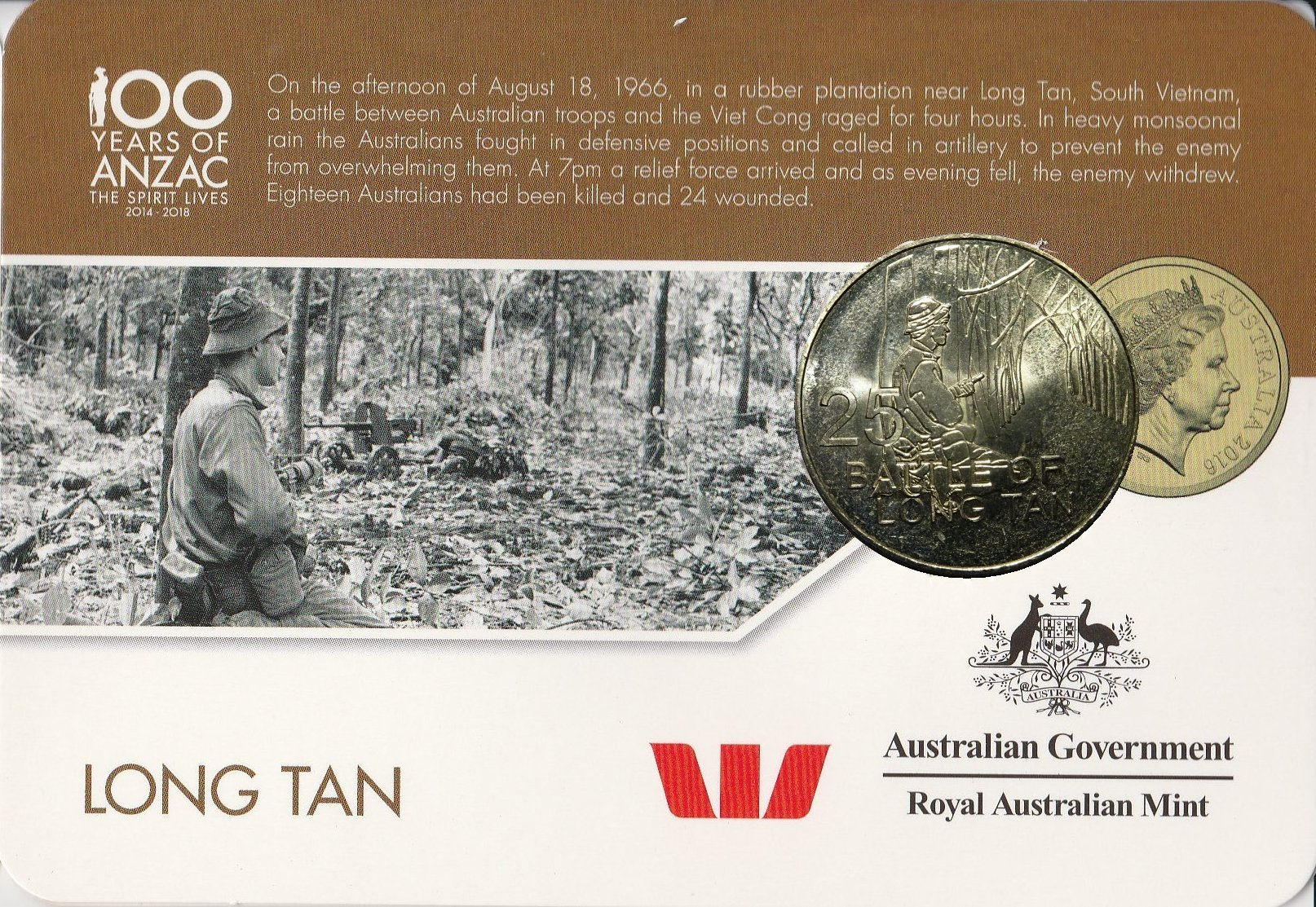 2016 Special Forces Anzac Coin Anzac To Afghanistan 20 Cents