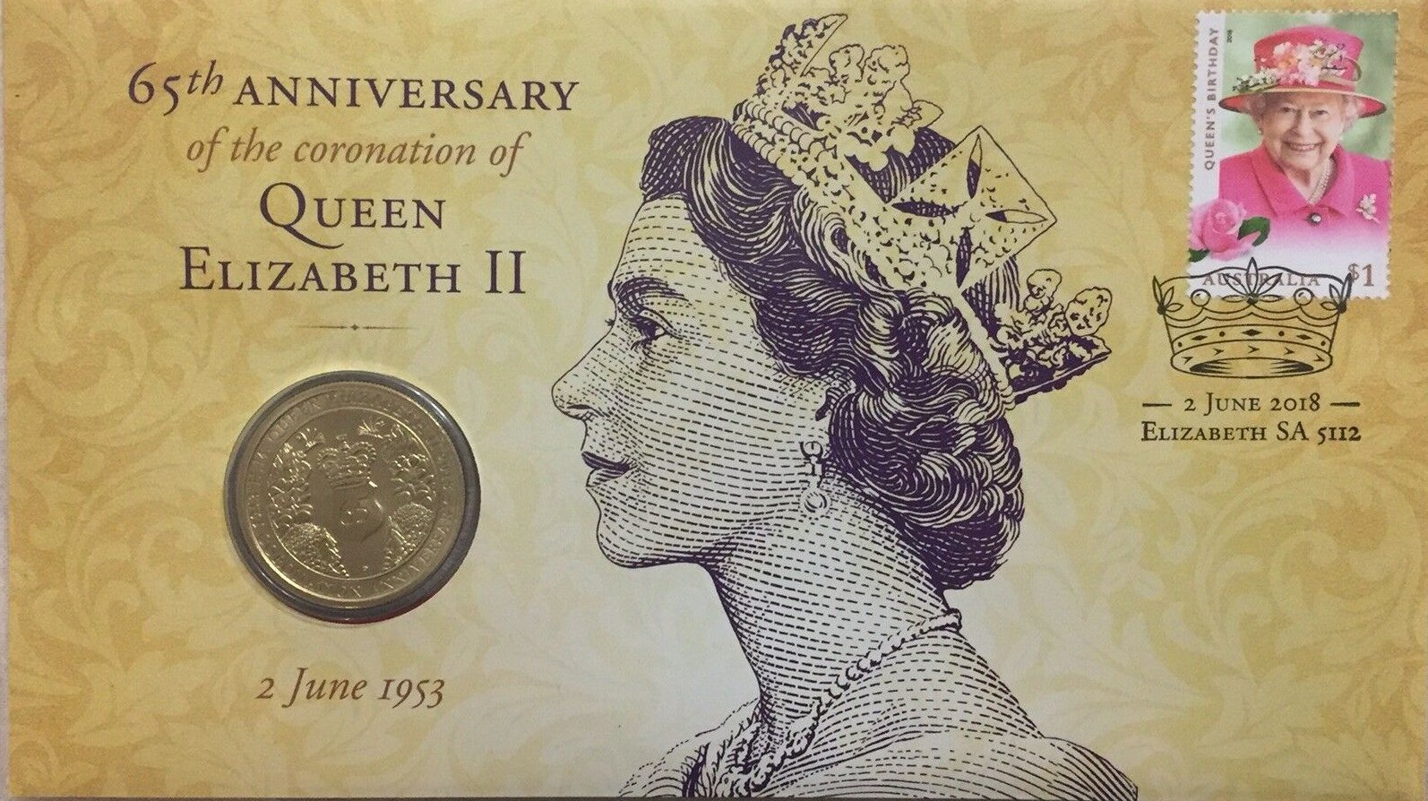 Queen Elizabeth II Perth Mint St 2018 65th Anniversary of the Coronation of H.M