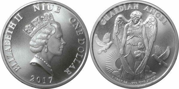 1 Dollar Elizabeth Ii Guardian Angel Niue Numista