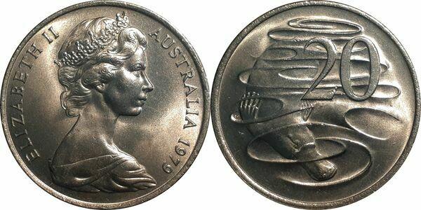 20 Cents - Elizabeth II (2nd portrait) - Australia – Numista