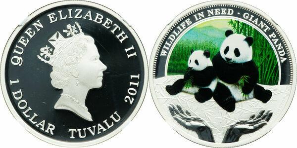 Tuvalu 2011 Working Dog Beagle Dollar 1oz Silver Coin,Proof