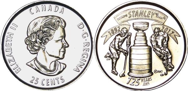 25 Cents Elizabeth Ii Stanley Cup Canada Numista