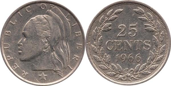 25 Cents - Liberia – Numista
