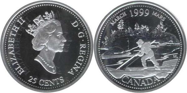 $1.00 1999 Canadian Prooflike Loonie