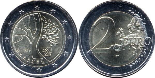 "Estonia 2 euro 2017 /""Road to Independence/"" BiMetallic UNC"