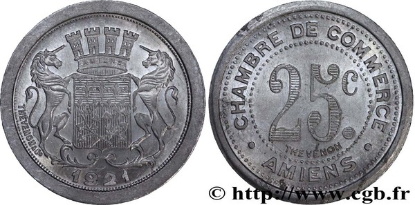25 centimes amiens french cities numista for Chambre de commerce amiens