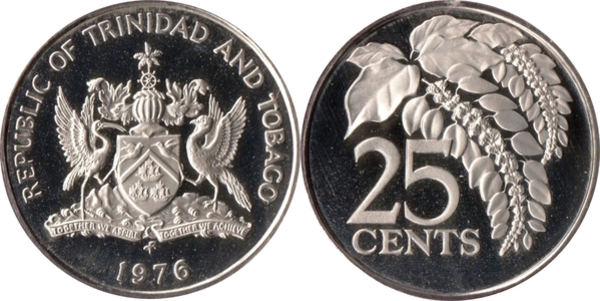 25 Cents - Trinidad and Tobago – Numista