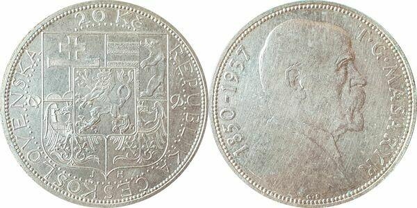 20 Korun (President Masaryk) - Czechoslovakia – Numista