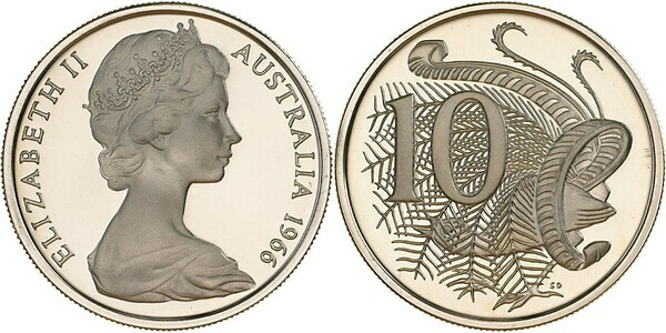 10 Cents - Elizabeth II (2nd portrait) - Australia – Numista