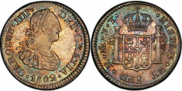 ½ Real - Carlos IV - Mexico – Numista