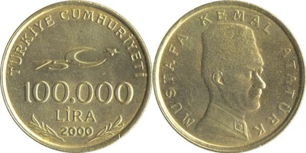1000 lira coin