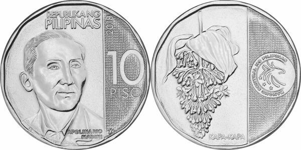 "Philippines set of 6 coins 10 piso 2017-2018 /""New Generation/"" UNC 1 sentimo"