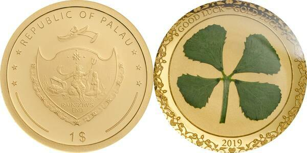 2019 Palau Sand Dollar 1 oz Silver $1 Coin GEM BU OGP SKU56955