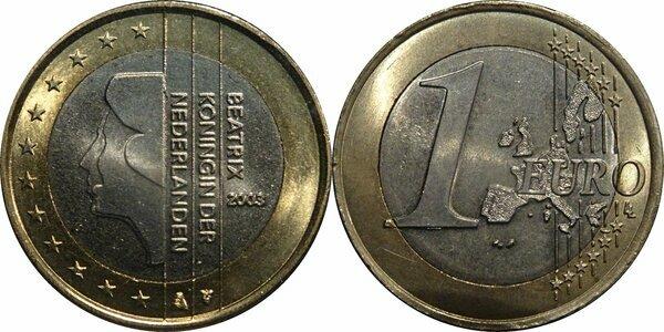 2 euro beatrix koningin der nederlanden 2001 valore