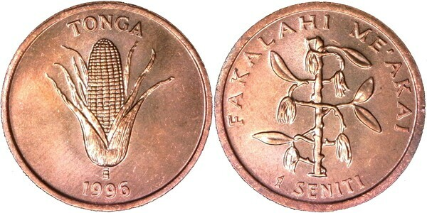 Tonga 1996 1 Seniti Uncirculated KM66