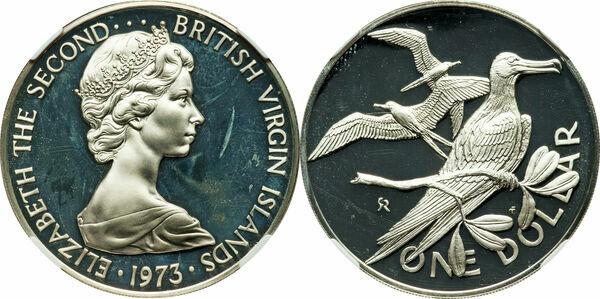 1 Dollar Elizabeth Ii 2nd Portrait Silver Proof Issue