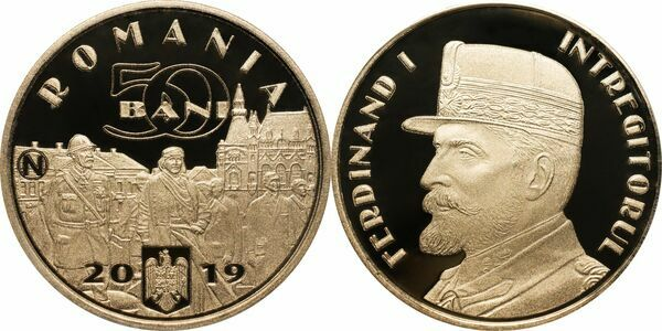 50 Bani 2019 UNC Completion of the Great Union the Unifier King Ferdinand I