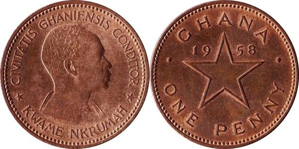 Ghana 1958 1//2 Penny Uncirculated KM1