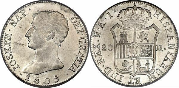 foto de 20 Reales Jose I Bonaparte Spain Numista