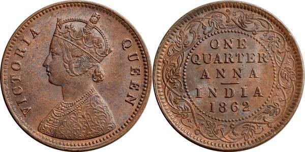 188 Anna Victoria Quot Victoria Queen Quot India British Numista