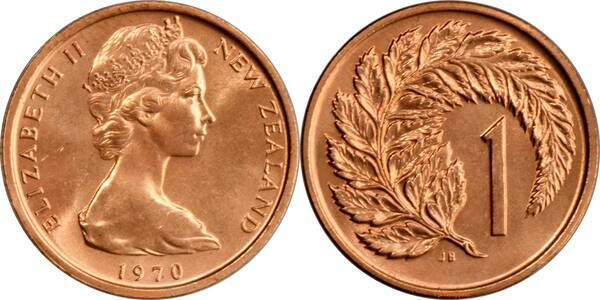 1 Cent Elizabeth Ii 2nd Portrait New Zealand Numista