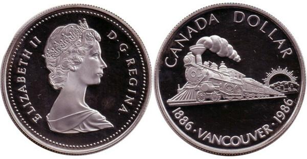 1986 Canada $1 Proof Silver Dollar