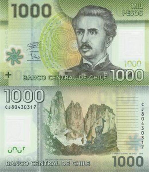 1000 Pesos Chile Numista