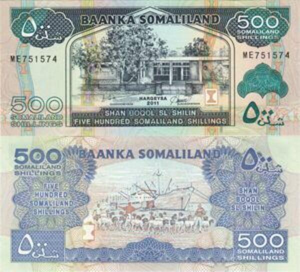 500 Shillings Somaliland Numista