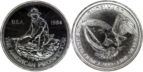 1 Oz Silver Engelhard The American Prospector